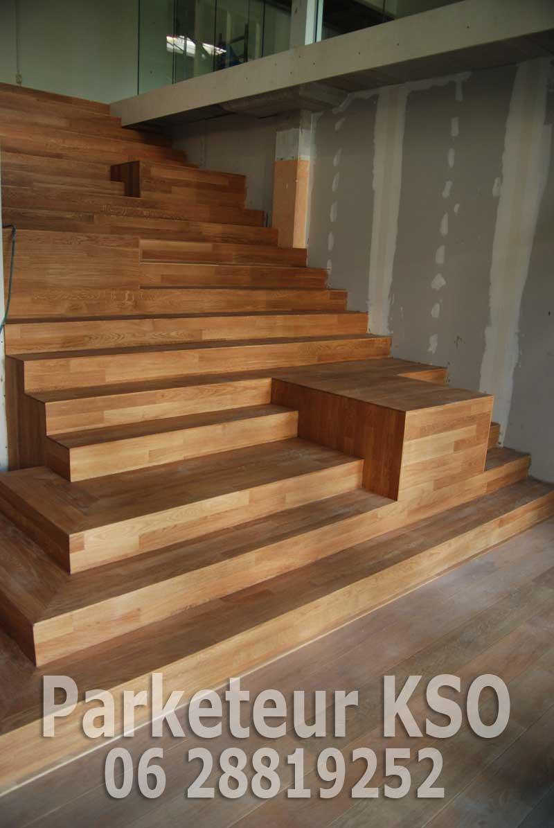 Kso houten eiken trap vloeren schuren for Trap eiken